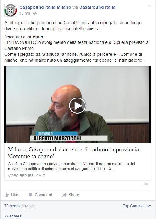Casa Pound Milano - 2