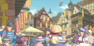 Flags of the City Howl's moving Castle 2004