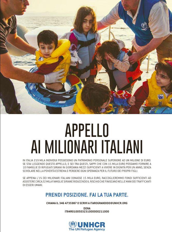 appello unicef milionari italiani