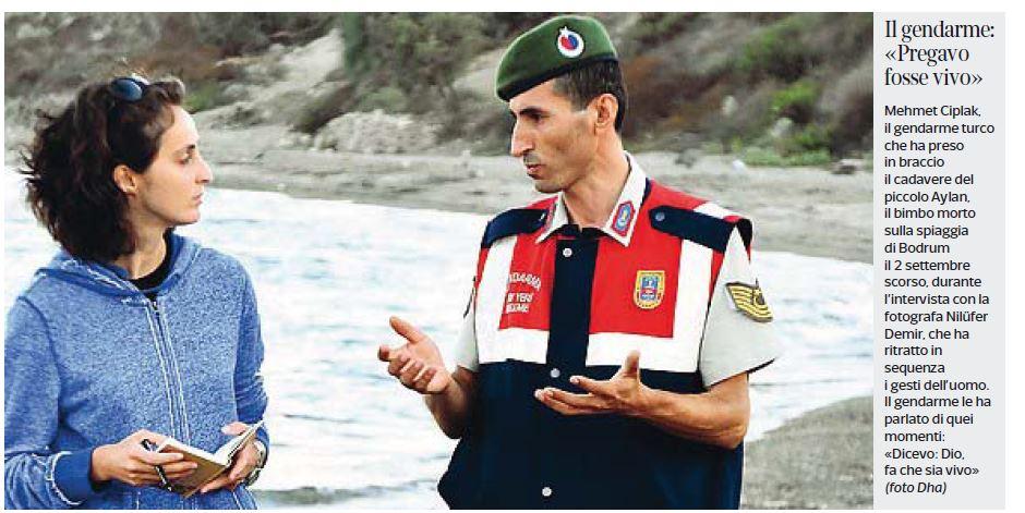 Nilüfer Demir e Mehmet Ciplak (fonte: Corriere della Sera)