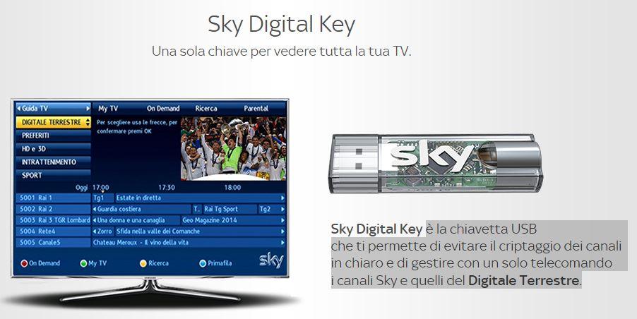 canali mediaset spariscono sky digital key