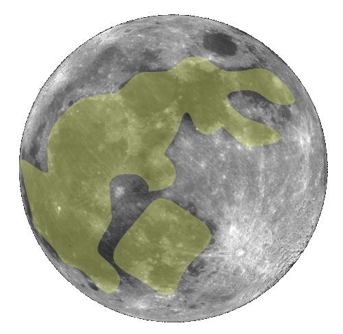 L'immagine del coniglio sulla Luna (fonte: Wikipedia.org)