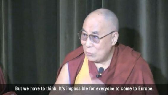 dalai lama migranti