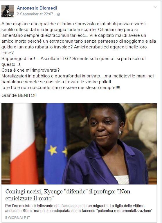 diomedi kyenge giornale - 2
