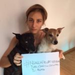 Francesca Inaudi per i canili di Roma (fonte: Facebook.com)