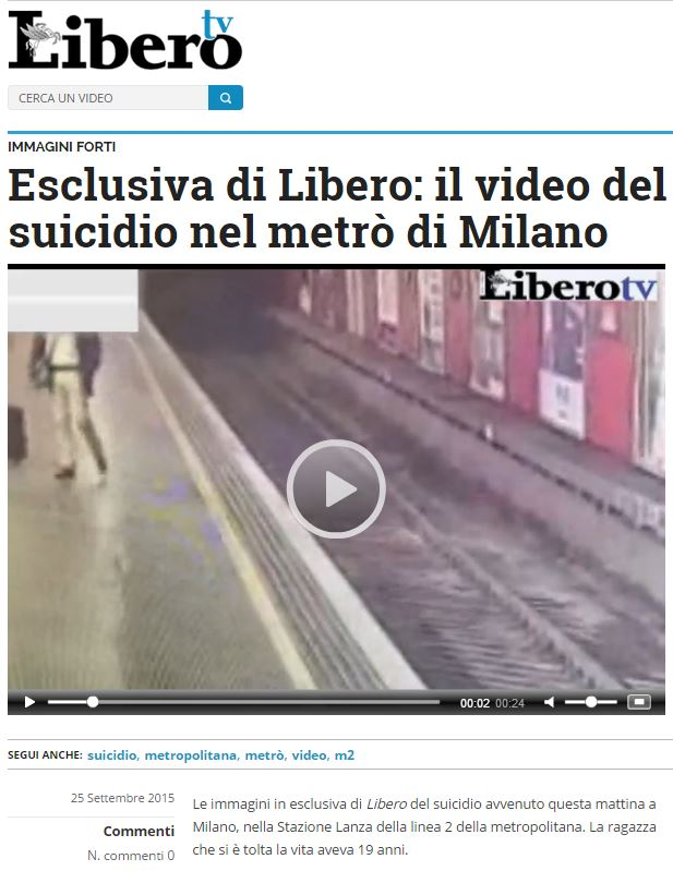 libero esclusiva suicidio metro