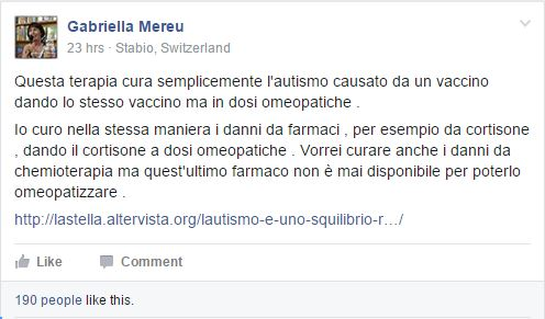 mereu autismo vaccini cura omeopatia