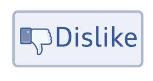 non mi piace dislike facebook