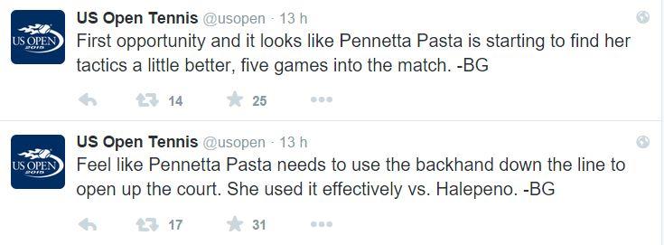 pennetta pasta us open 1
