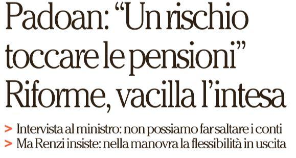 renzi padoan pensioni 1