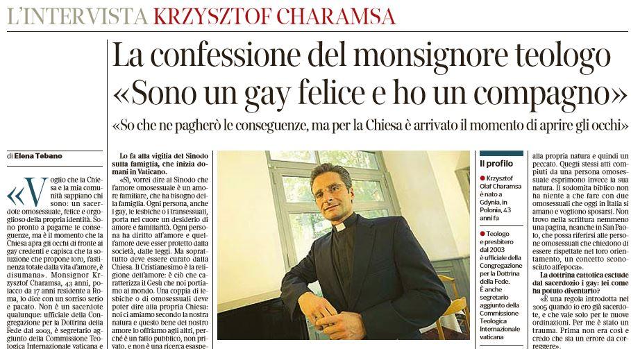 KRZYSZTOF CHARAMSA MONSIGNORE GAY