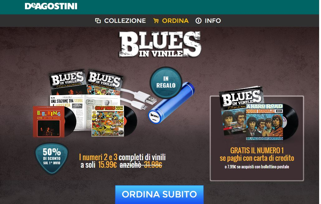 blues in vinile de agostini