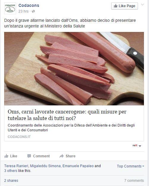 carne rossa cancerogena complotti - 1