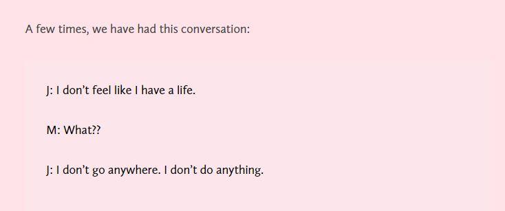 Una conversazione tra Julianna e sua mamma (fonte : http://juliannayuri.com/)