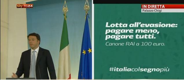 Italiacolsegnopi legge di stabilit le slide di renzi for Costo canone rai 2017