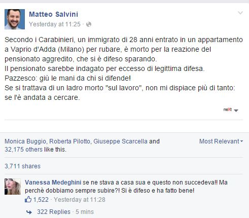 Dopo Stacchio ecco il Pensionato di Salvini