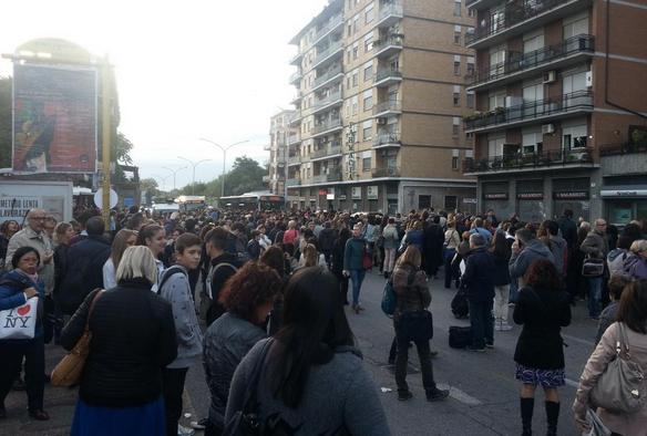 metro b roma rotta 22 ottobre 2