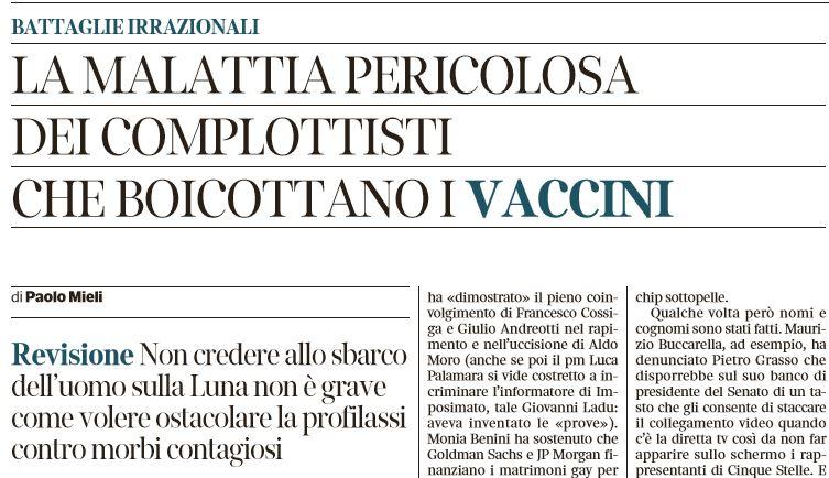 paolo mieli movimento 5 stelle vaccini