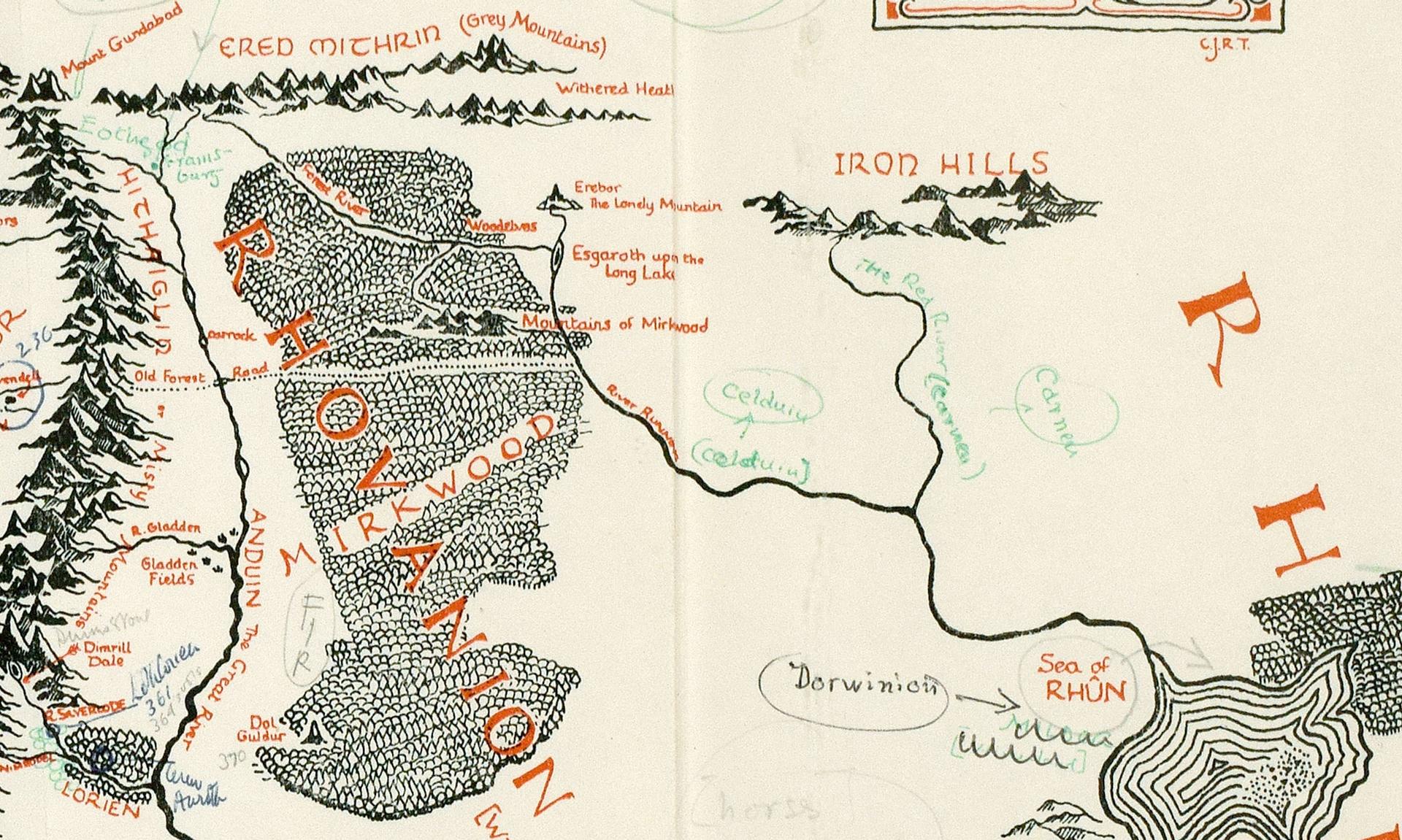 terra di mezzo mappa tolkien