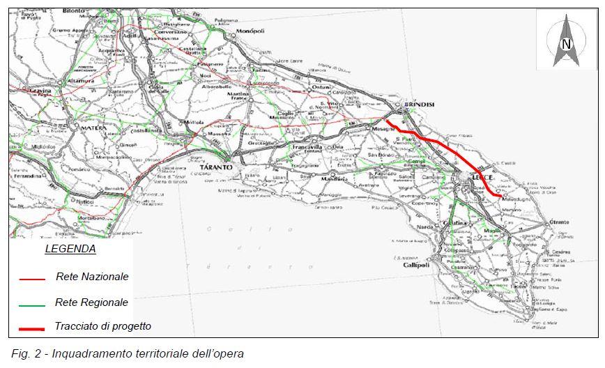 Il tracciato del gasdotto SNAM fonte: http://www.va.minambiente.it/