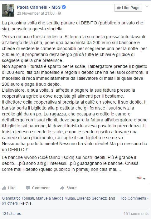 Paola carinelli debito signoraggio - 1