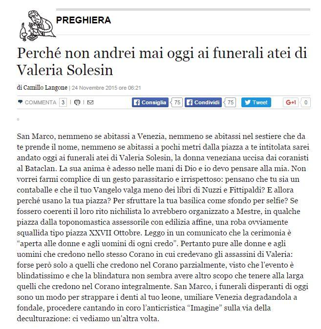 camillo langone valeria solesin funerali - 1