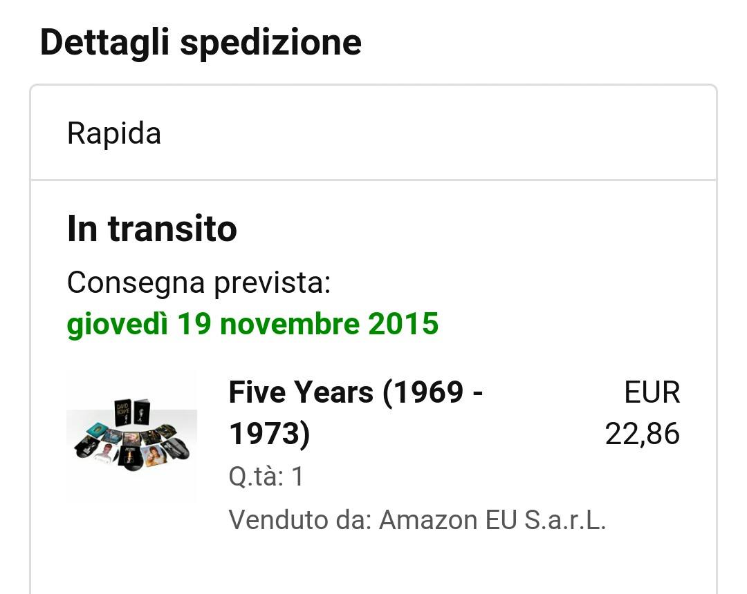 david bowie five years amazon ibs