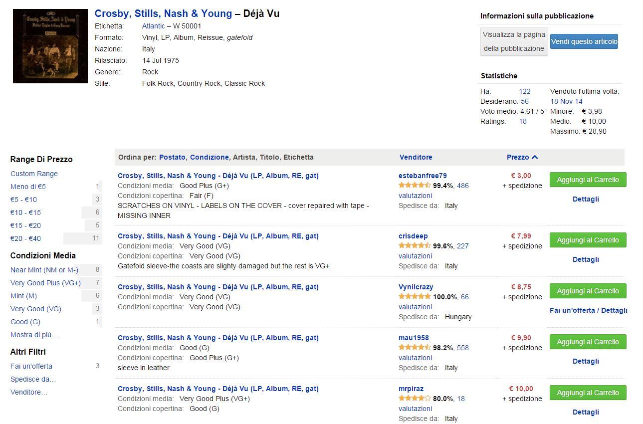 discogs come funziona compra vendita