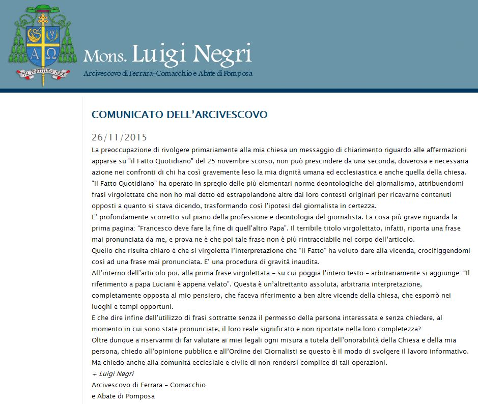 luigi negri fatto quotidiano