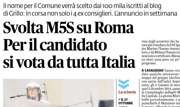 movimento 5 stelle roma