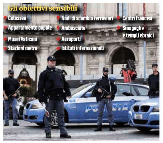 obiettivi attentati terroristici italia