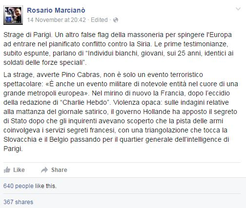 parigi attentati marcianò false flag - 1
