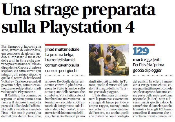 ps4 attacchi ISIS parigi bufala