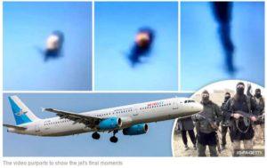 video aereo russo esplode