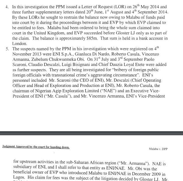 ENI REPORT trattativa nigeria risposta 3