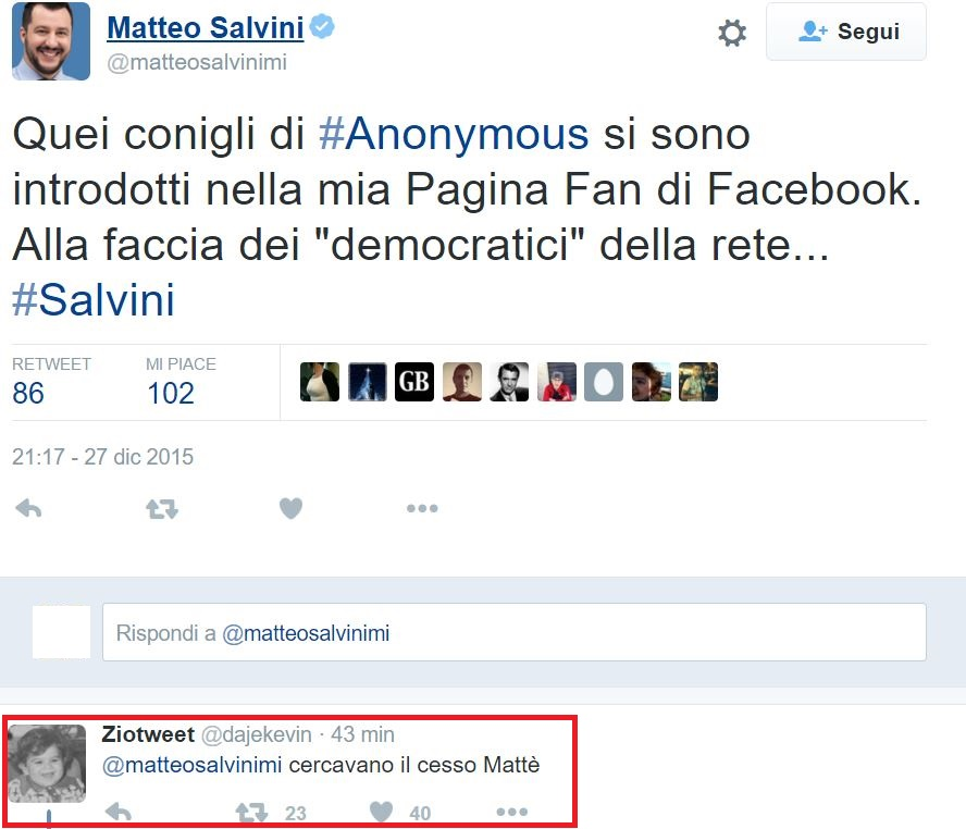 matteo salvini anonymous