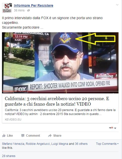san bernardino strage shooting massoneria false flag - 1