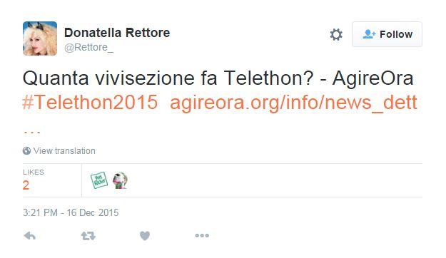 telethon vivisezione insulti - 1