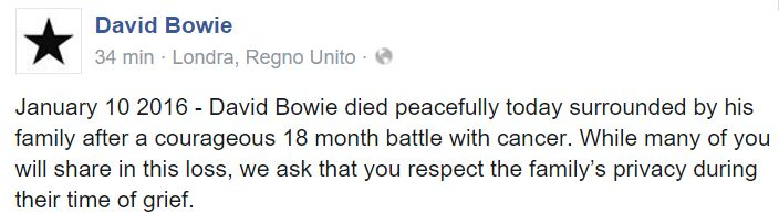 david bowie morto bufala 1