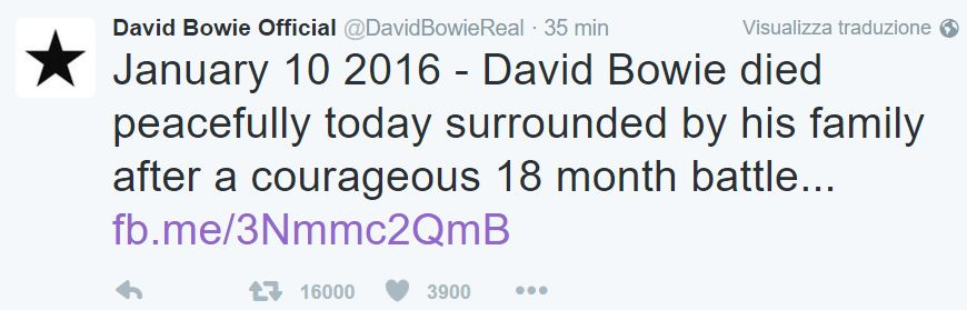 david bowie morto bufala