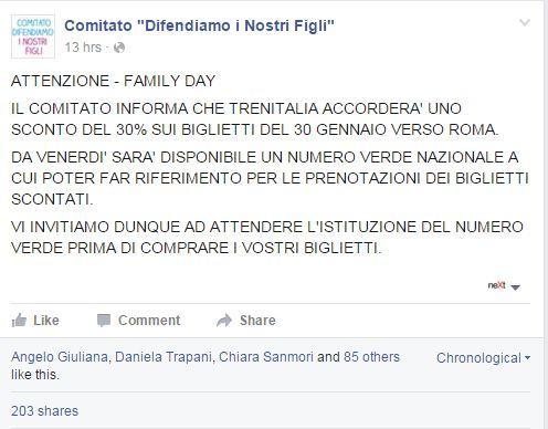 family day trenitalia sconti - 2