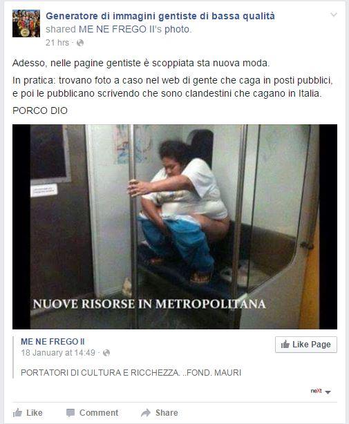 gentismo e merda facebook immigrati - 1