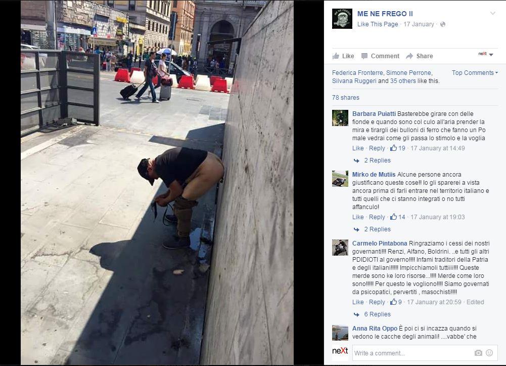 gentismo e merda facebook immigrati - 2