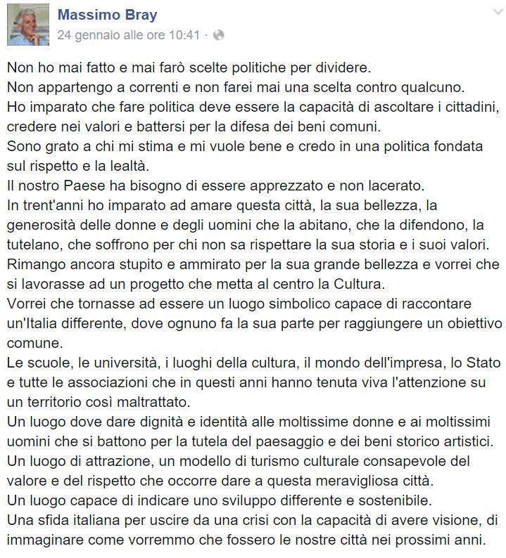 massimo bray candidato sindaco roma