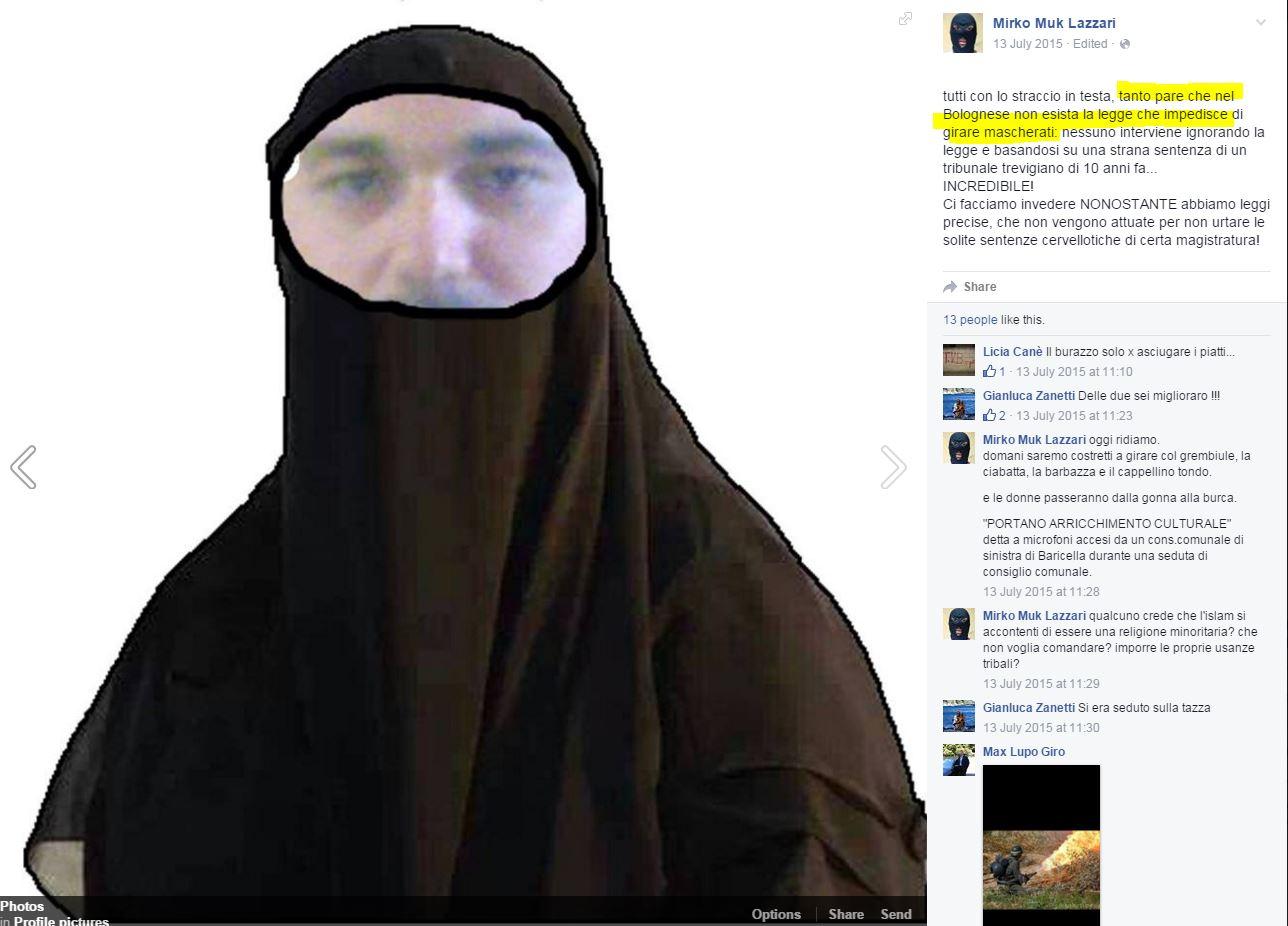 mirko lazzari lega nord burqa mozione - 2