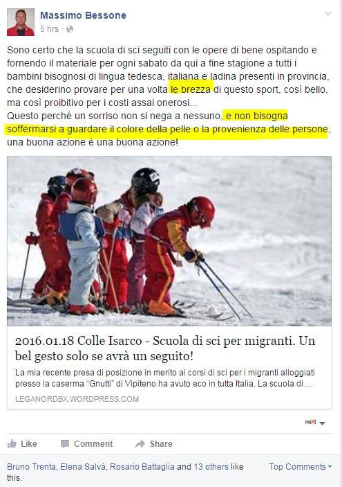 scuola sci colle isarco lezioni migranti - 1