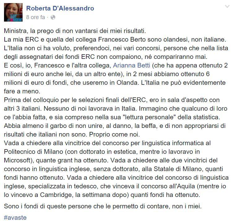 ROBERTA D'ALESSANDRO