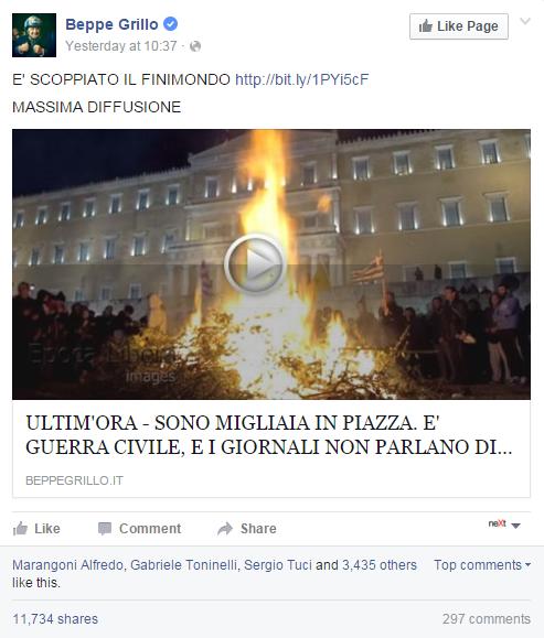 beppe grillo guerra civile in grecia - 1