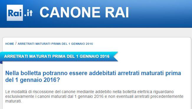 canone rai 2016 arretrati bolletta - 1