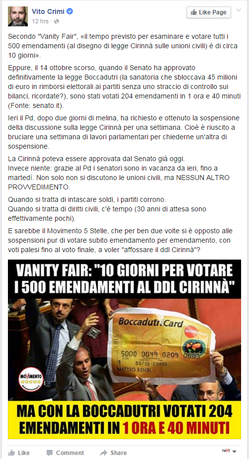 crimi di battista cirinnà unioni civili - 4